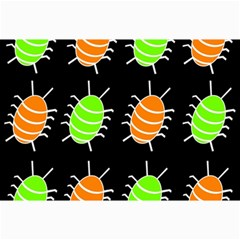 Green And Orange Bug Pattern Collage Prints by Valentinaart