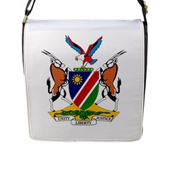 Coat Of Arms Of Namibia Flap Messenger Bag (L)  by abbeyz71
