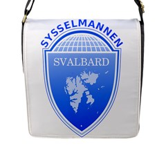 Coat Of Arms Of Svalbard Flap Messenger Bag (L)  by abbeyz71