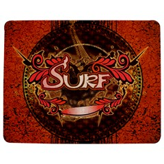 Surfing, Surfboard With Floral Elements  And Grunge In Red, Black Colors Jigsaw Puzzle Photo Stand (rectangular) by FantasyWorld7