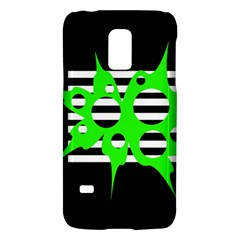 Green Abstract Design Galaxy S5 Mini by Valentinaart