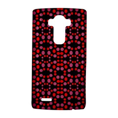 Dots Pattern Red Lg G4 Hardshell Case by BrightVibesDesign