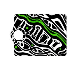 Green, Black And White Abstract Art Kindle Fire Hd (2013) Flip 360 Case by Valentinaart