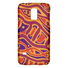 Orange Decorative Abstract Art Galaxy S5 Mini by Valentinaart