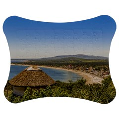Landscape Aerial View Piriapolis Uruguay Jigsaw Puzzle Photo Stand (bow) by dflcprints