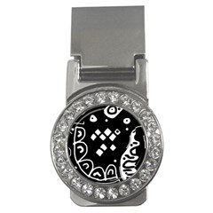 Black and white high art abstraction Money Clips (CZ)  by Valentinaart