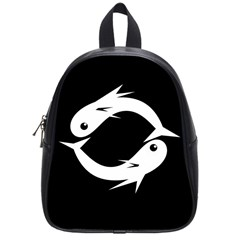 White Fishes School Bags (small)  by Valentinaart