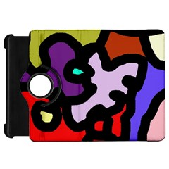 Colorful Abstraction By Moma Kindle Fire Hd Flip 360 Case by Valentinaart