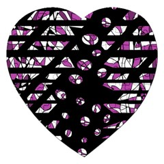Magenta Freedom Jigsaw Puzzle (heart) by Valentinaart