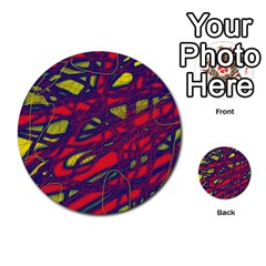 Abstract High Art Multi Purpose Cards (round)  by Valentinaart