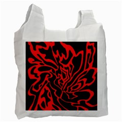 Red And Black Decor Recycle Bag (one Side) by Valentinaart