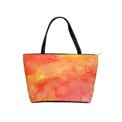 Watercolor Yellow Fall Autumn Real Paint Texture Artists Shoulder Handbags by CraftyLittleNodes