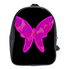 Purple Butterfly School Bags (xl)  by Valentinaart