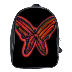 Red Butterfly School Bags(large)  by Valentinaart