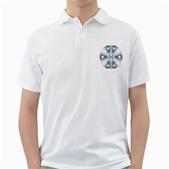 Mandala Blue And White Golf Shirts by vanessagf