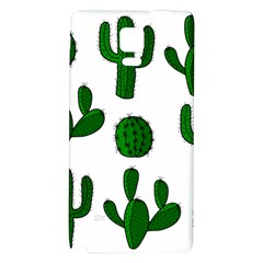 Cactuses Pattern Galaxy Note 4 Back Case by Valentinaart