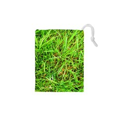Natures Grass And Shamrock Print  Drawstring Pouches (xs)  by artistpixi