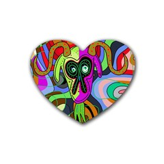 Colorful Goat Heart Coaster (4 Pack)  by Valentinaart