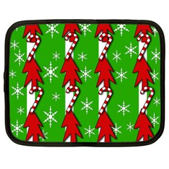 Christmas pattern - green Netbook Case (XXL)  by Valentinaart