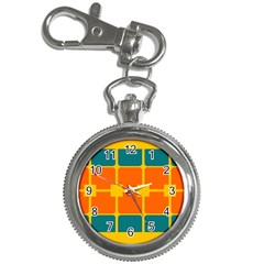 Squares And Rectangles                                                                                                			key Chain Watch by LalyLauraFLM