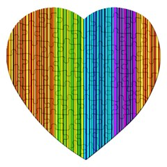 Colorful Lines Jigsaw Puzzle (heart) by Valentinaart