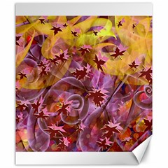 Falling Autumn Leaves Canvas 20  X 24   by Contest2489503
