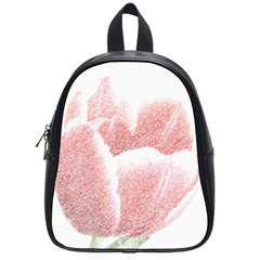 Tulip Red Pencil Drawing Art School Bags (small)  by picsaspassion
