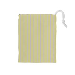 Summer Sand Color Lilac Stripes Drawstring Pouches (medium)  by picsaspassion