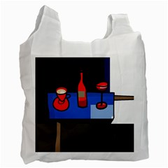 Table Recycle Bag (one Side) by Valentinaart