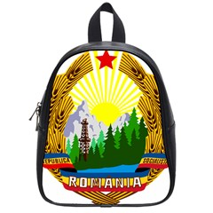 National Emblem Of Romania, 1965 1989  School Bags (small)  by abbeyz71