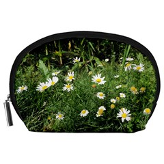 Wild Daisy Summer Flowers Accessory Pouches (large)  by picsaspassion