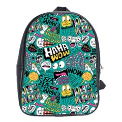 Haha Wow Pattern School Bags (xl)  by AnjaniArt