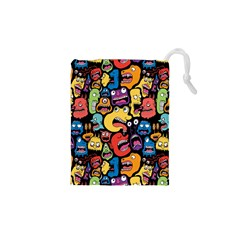 Monster Faces Drawstring Pouches (xs)  by AnjaniArt