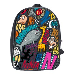 N Pattern School Bags (xl)  by AnjaniArt