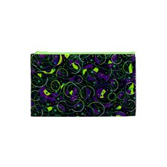 Purple And Yellow Decor Cosmetic Bag (xs) by Valentinaart