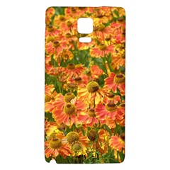 Helenium Flowers And Bees Galaxy Note 4 Back Case by GiftsbyNature