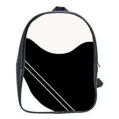 White And Black Abstraction School Bags (xl)  by Valentinaart