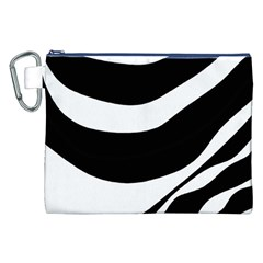 White Or Black Canvas Cosmetic Bag (xxl) by Valentinaart