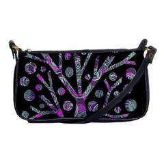 Purple magical tree Shoulder Clutch Bags by Valentinaart