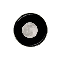 Full Moon At Night Hat Clip Ball Marker (4 Pack) by picsaspassion