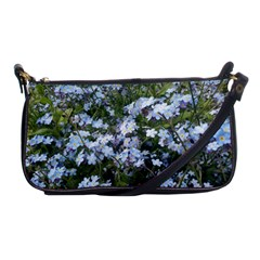 Little Blue Forget Me Not Flowers Shoulder Clutch Bags by picsaspassion