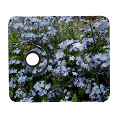 Little Blue Forget Me Not Flowers Samsung Galaxy S  Iii Flip 360 Case by picsaspassion