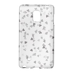 Silver Hearts Confetti Galaxy Note Edge by theimagezone