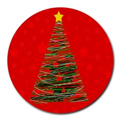 Xmas Tree 3 Round Mousepads by Valentinaart