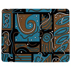 Blue And Brown Abstraction Jigsaw Puzzle Photo Stand (rectangular) by Valentinaart