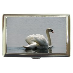 Swimming White Swan Cigarette Money Cases by picsaspassion