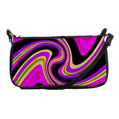 Pink and yellow Shoulder Clutch Bags by Valentinaart
