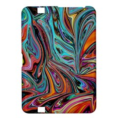 Brilliant Abstract In Blue, Orange, Purple, And Lime Green  Kindle Fire Hd 8 9  by theunrulyartist