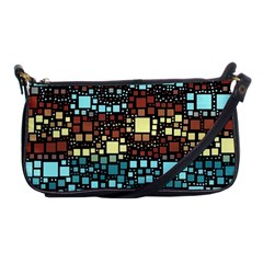 Block On Block, Aqua Shoulder Clutch Bags by MoreColorsinLife