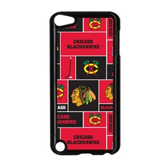 Chicago Blackhawks Nhl Block Fleece Fabric Apple Ipod Touch 5 Case (black) by Onesevenart